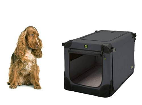 Maelson Soft Kennel Hundebox Anthracite, Größe XL – 105 x 72 x 81 cm - 2