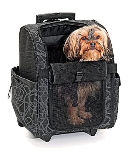 Karlie Smart Trolley City, Transporttrolley für Hunde aus Nylon, 48 x 34 x 28 cm, schwarz