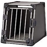 Trixie 39336 Transportbox, Aluminium, M: 55 × 61 × 74 cm, graphit