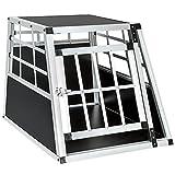 TecTake Alu Hundetransportbox -Diverse Größen- (Single klein)