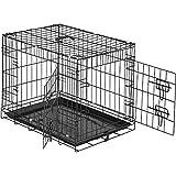 TecTake 800515 Hundekäfig Transportbox   2 große Türen mit Riegeln   Zusammenklappbar - Verschiedene Größen (60 x 44 x 51 cm   Nr. 402293)