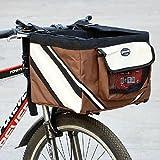 Olayer Fahrradlenker-Transportbox für kleine Haustiere, Fahrrad-Korb mit Taschen für Hundeleckerlis