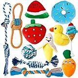 Toozey Welpenspielzeug - 12 Stück hundespielzeug unzerstörbar für Welpen & kleine Hunde - Hundespielzeug Welpe Hundespielzeug Set Hundezubehör - Natürliche Baumwolle ungiftig
