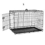 Defacto HundeKäfig 2 Türen faltbar Hundebox Gitterbox Transport Käfig Drahtkäfig S-XXL DF-HB005 (S)