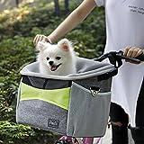 Petsfit Fahrradkorb Vorne für kleine Haustiere, Katzen, Hunde, Abnehmbarer Fahrrad Hundekorb,Schnellentriegelung, einfache Installation, 29cm x 21cm x 30cm